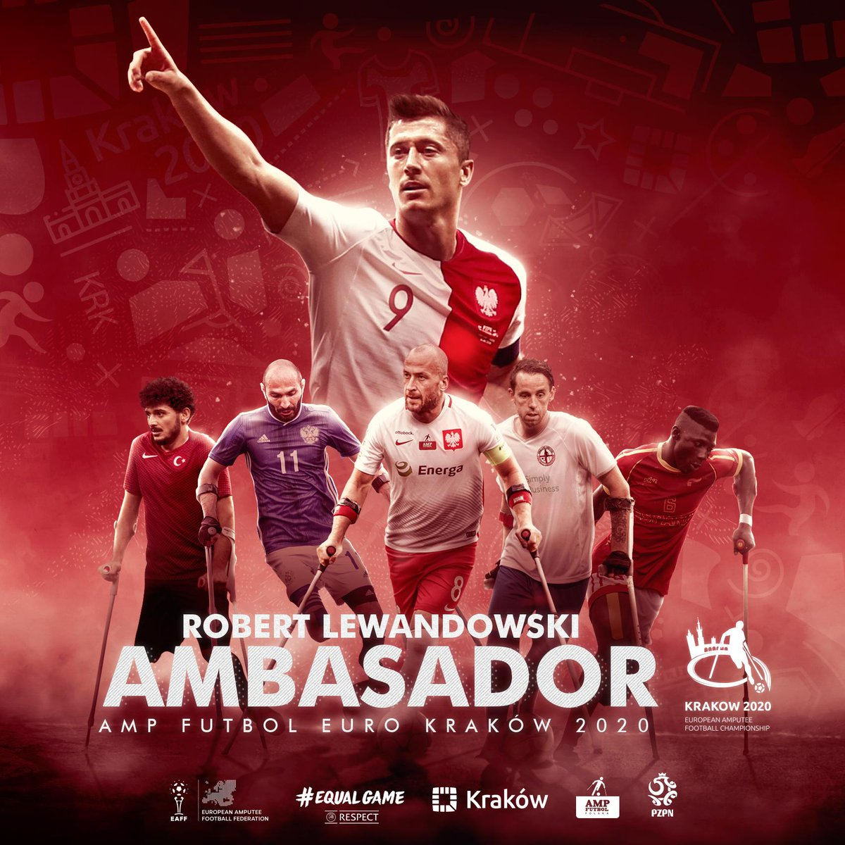 I am very proud to announce that I am the ambassador of the European Amputee Football Championship, which will take place in September 2020 in #Kraków #Poland ⚽🏆 @AmpFutbolPolska #AMPFutbol #AmpEURO2020 #EqualGame #Respect