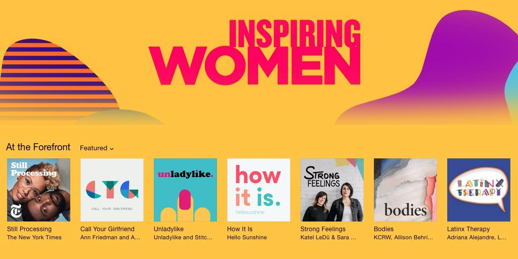 Oh hay, @ApplePodcasts, thanks for putting us in such great company 😘