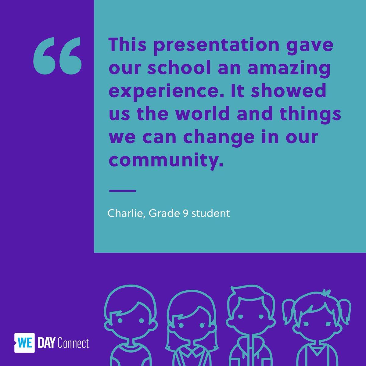 WE Day Connect gives students like Charlie a chance to connect with like-minded young leaders through technology. 👨🏽‍💻👩‍💻 Join us on Oct 8th! Register for #WEdayConnect now: ow.ly/YNSV50wraZb
