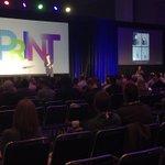 Image for the Tweet beginning: Happening NOW! #PRINT19 Keynote   8:45
