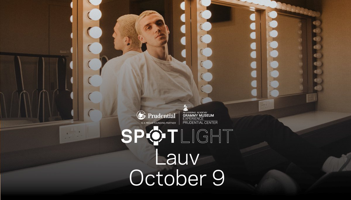 Can't wait to have @LauvSongs join us in the #GRAMMYMuseumExp tonight!   DOORS: 7pm START: 7:30pm