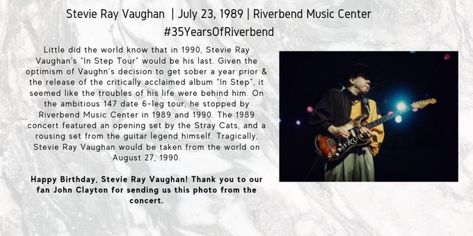 Happy Birthday to Stevie Ray Vaughan! Did you see him at in 1989?