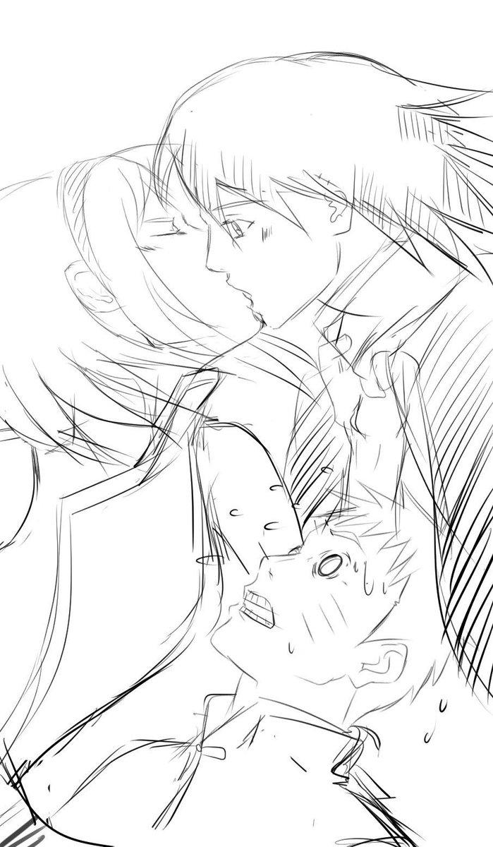 Sasuke and sakura kiss
