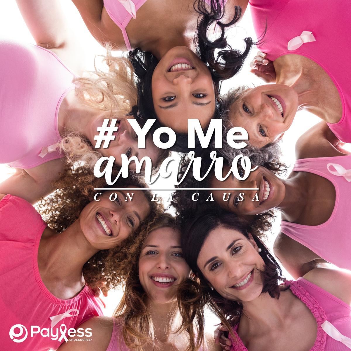 ¡Demuestra tu apoyo y dí #YoMeAmarroConLaCausa! Encuentra los cordones rosa en #Payless y apoya la lucha contra el cáncer de seno. *Válido mientras duren existencias. https://t.co/yKC6TtG624