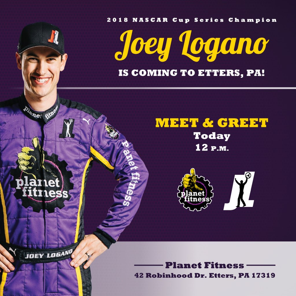 See you in a few race fans at @PlanetFitness stop #1! 42 Robinhood Dr. Etters, PA 17319 #TeamJL #PFJLDoubleHeader