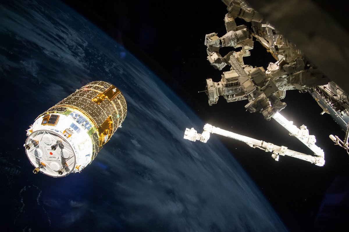A @JAXA_en cargo craft loaded with over four tons of gear is scheduled to launch to the station at 12:05pm ET Tuesday. Live @NASA TV coverage will begin at 11:30am. go.nasa.gov/34ZwTn3