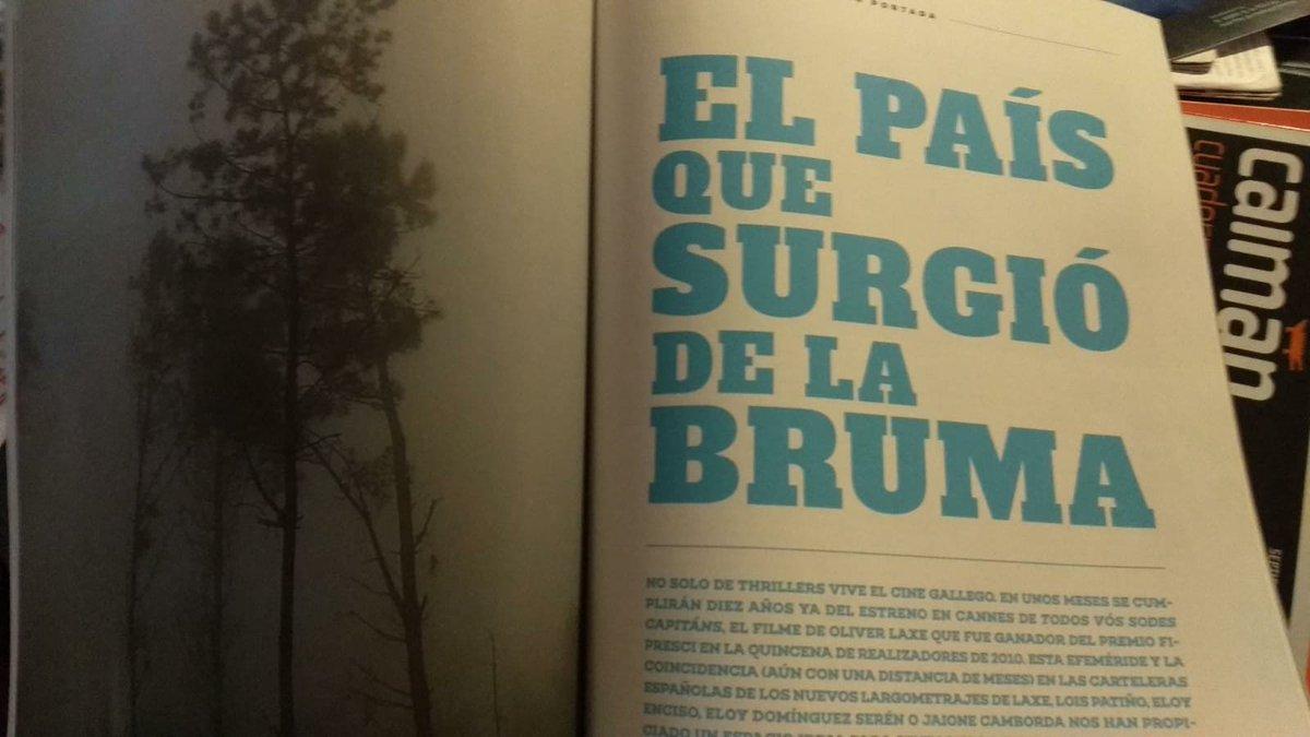 Me pasa mi querida @beligrosa este pantallazo del último número de @SOFILMEsp , donde sale un artículo mío sobre Cine Galego d tamaño bastante generoso (5 páginas), creo q nunca había escrito un texto sobre cine con tanto cariño y admiración, y con tanto miedo a no hilar fino