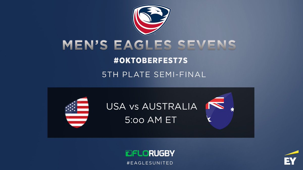 Confirmed | USA vs Australia in tomorrows #Oktoberfest7s 5th place semi-finals Watch on @FloRugby 💻 #EaglesUnited | #USMNT7s