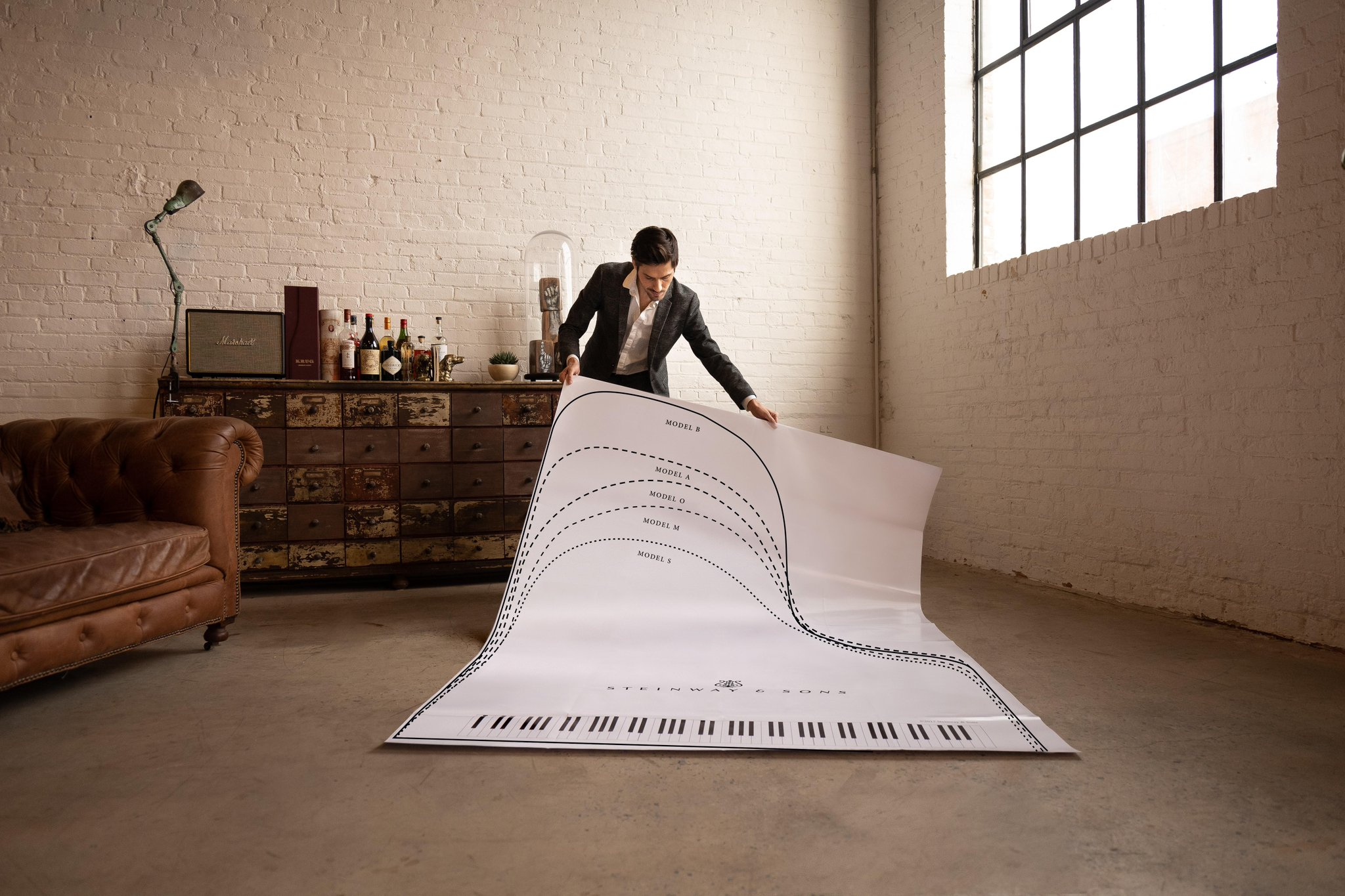 Steinway grand in your home. Our floor template can help you decide which Steinway model size is right for you ➡️fal.cn/3456d