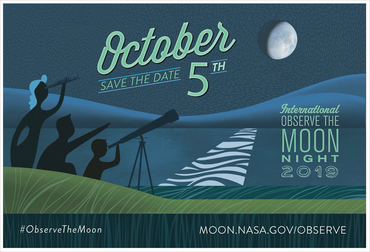 We're just two weeks away from International Observe the Moon night on Oct. 5. You can #ObserveTheMoon on your own, join an event near you, or host your own event: go.nasa.gov/2EcStuX