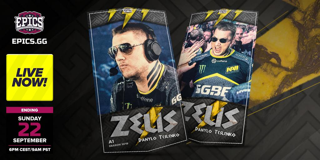 The @ZeusCSGO Tribute cards are live for crafting. Only 24 hours to collect the two, Cool Zeus Tribute cards.
