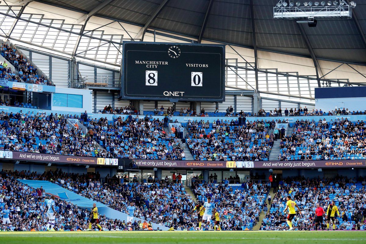 Manchester City bantai Watford 8-0