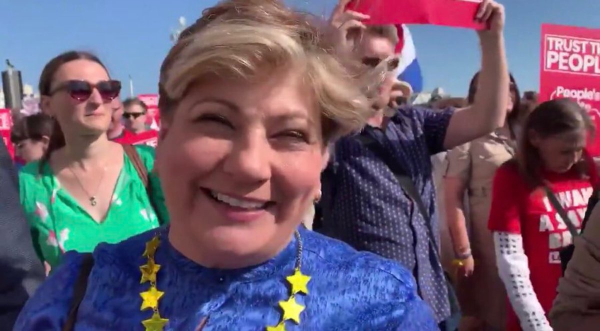 Emily Thornberry sneers and mocks those who proudly fly our national flag – but is more than happy to wear the stars of those at the other side of the negotiating table – who seek to 'punish' us for daring to democratically vote to leave their club. Speaks volumes to me like!
