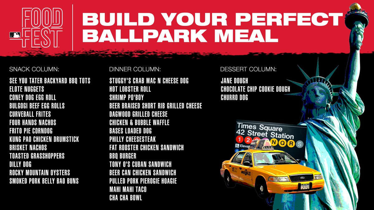 Hungry?Build your ultimate ballpark meal from the delicious grub at #MLBFoodFest presented by @BudweiserUSA.