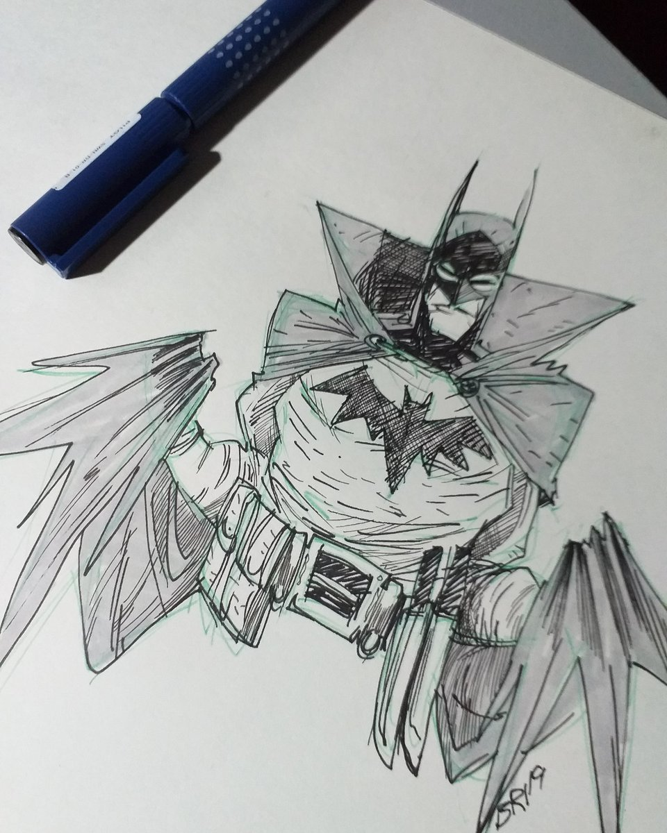 Briane The Haunted On Twitter 15 Mins Sketch Before Sleep Batman Gotham By Gaslight Since Its Batman Day Tried Using Pen Again After A Looooong Long Time And Wow It Sucks
