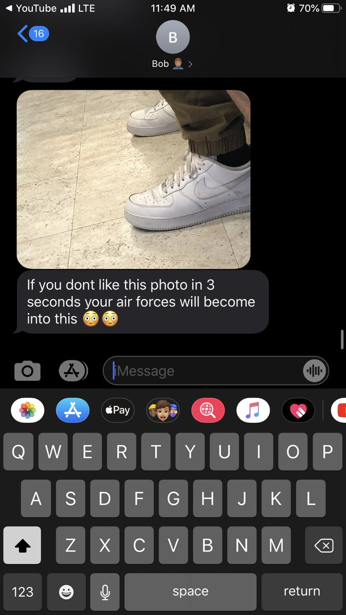 We at the barbershop and my little brother sends me this ☠️