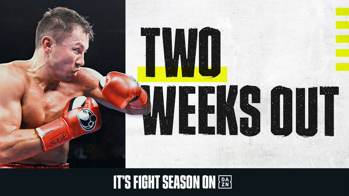 In two weeks time, @GGGBoxing is BACK in action. ⚡  #GGGDerevyanchenko