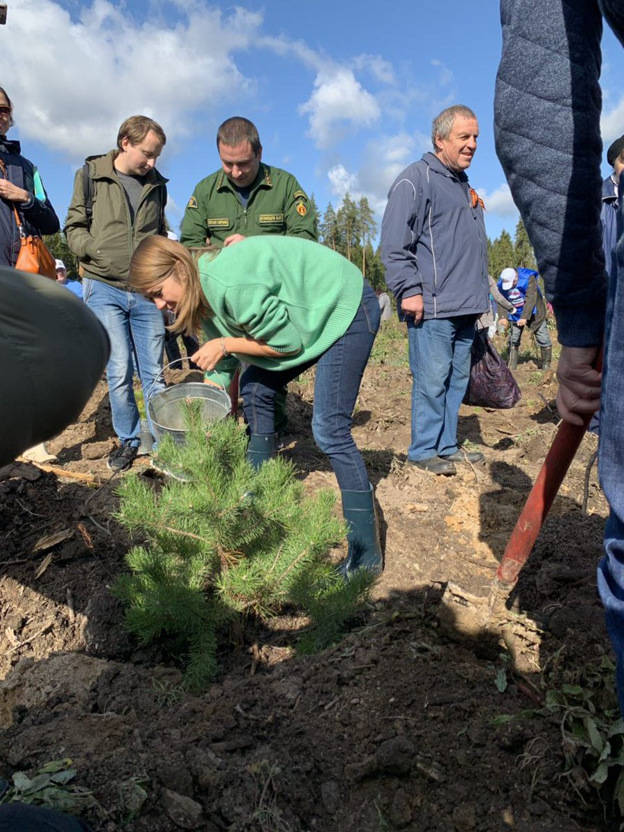 приняли участие в акции посади дерево