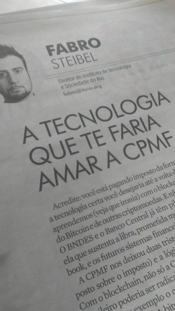 olha o @ofabro na @GauchaZH do finde, sobre amor e CPMF. pode? 💸 https://t.co/ZOLYASncTz
