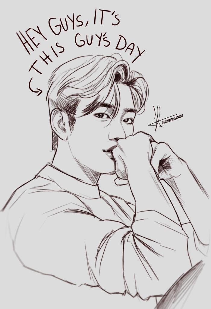 hey guys! happy birthday to this guy!   [#HeyGuysItsJinyoungDay #Jinyoung #박진영 #GOT7  #GOT7fanart @GOT7Official]<br>http://pic.twitter.com/RGyVifhh90