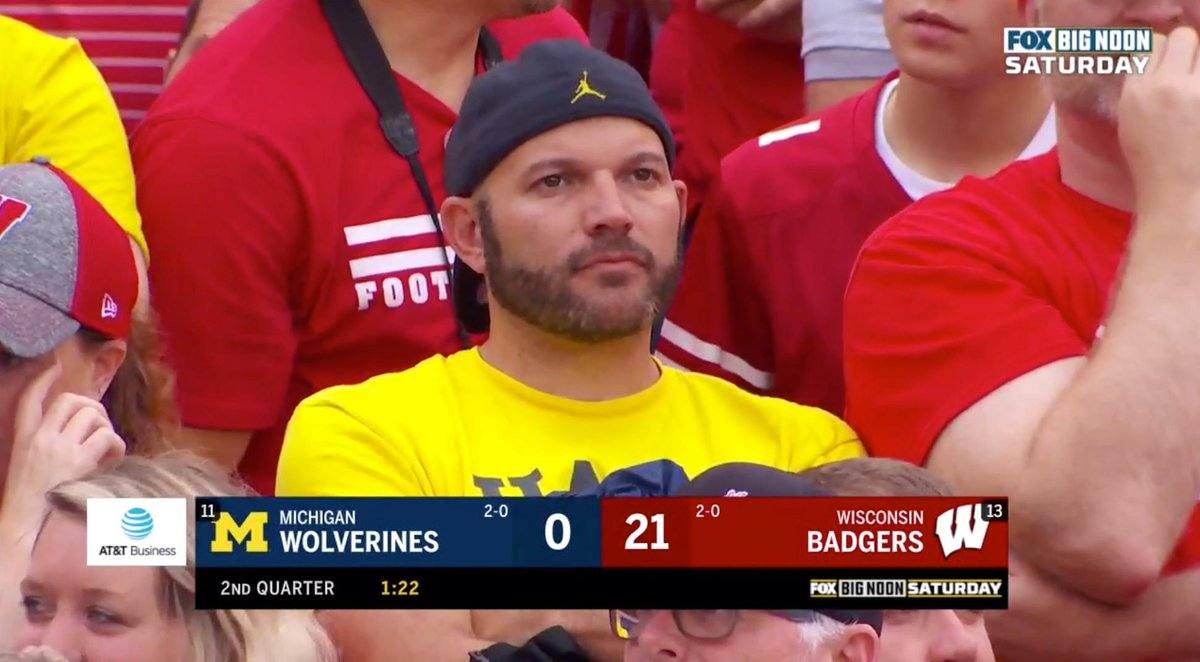 Wisconsin Leads Michigan 28-0 At Halftime