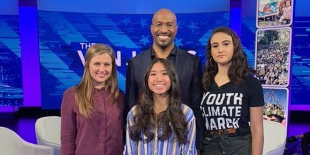 Two of our #AllinForClimateAction petition starters, Rebecca (🇩🇪) and Cynthia (🇺🇸), joined @VanJones68 to discuss why young people want climate action NOW.
