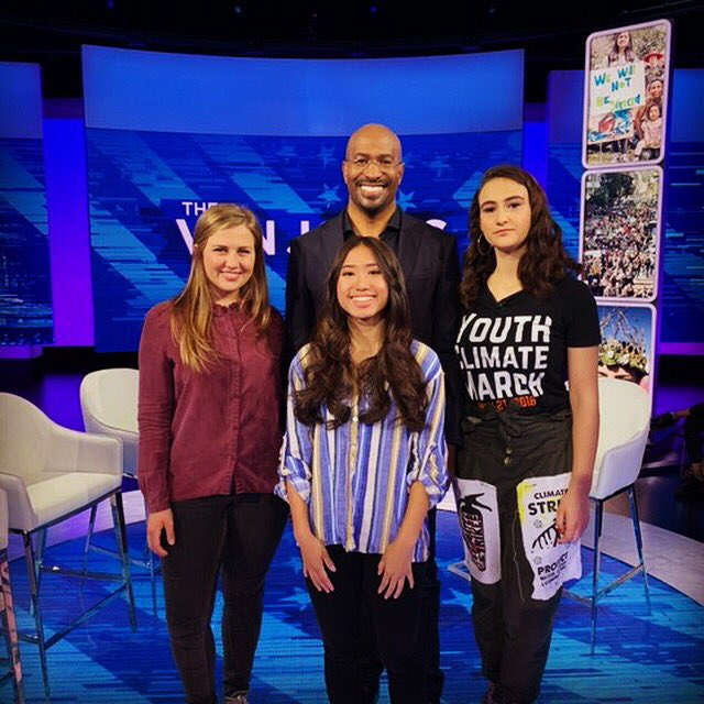 Catch @VanJones68 tonight on @CNN and see him talk with young people who are part of the @AllinforClimate movement, who are leading the charge to get world leaders to address the climate crisis.