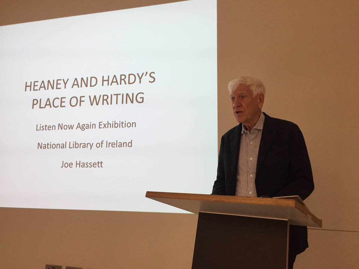 Fabulous talk by Joe Hassett at @SeamusHeaneyNLI today - what an amazing week it's been