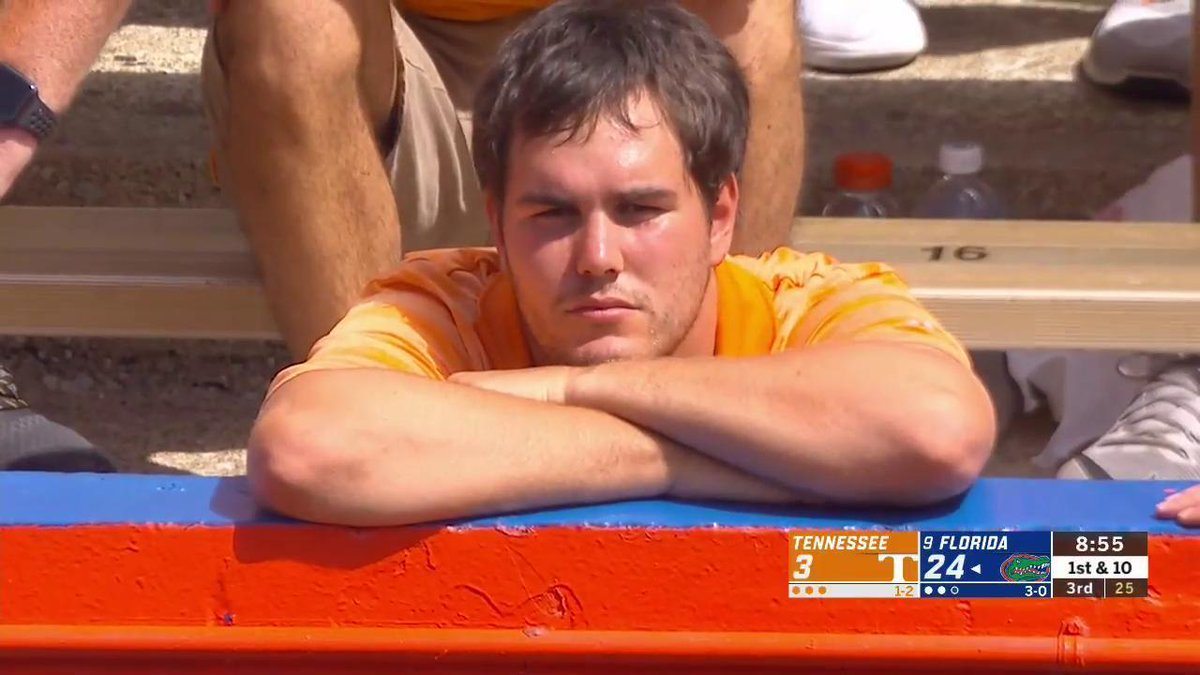 Photo Of Sad Tennessee Fan Goes Viral At Florida