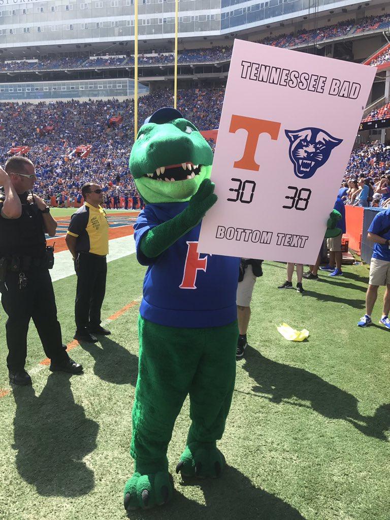 #GatorsWin Tennessee loses... again. #GoGators