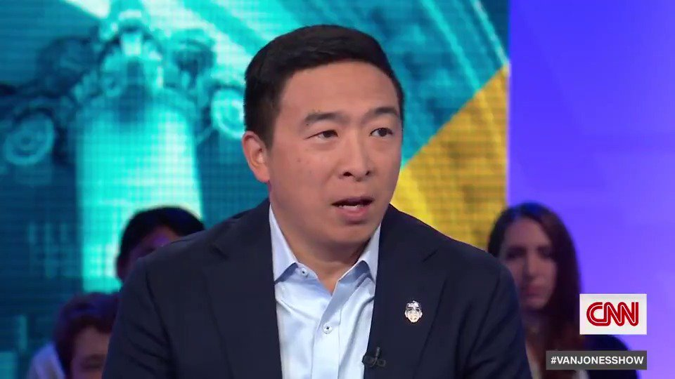 """Presidential candidate Andrew Yang still believes comedian Shane Gillisshould not have lost his jobon """"Saturday Night Live.""""""""We're all human and we can forgive,"""" he tells @VanJones68 when asked about """"cancel culture.""""Watch more at 7 p.m. ET on CNN. https://cnn.it/2kyrdhK"""