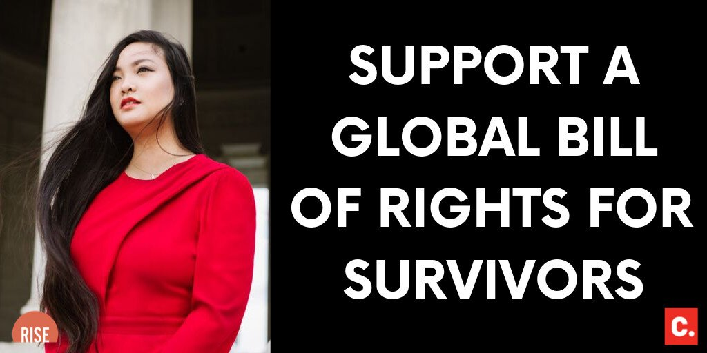 In 2016, we changed America when the Change community successfully petitioned the United States Congress to pass the Sexual Assault Survivor Bill of Rights. Now I'm asking you to take this movement global. Amandas taking her fight to the UN: chng.it/2xvPtnthcN
