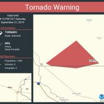 Image for the Tweet beginning: Tornado Warning continues for Duelm