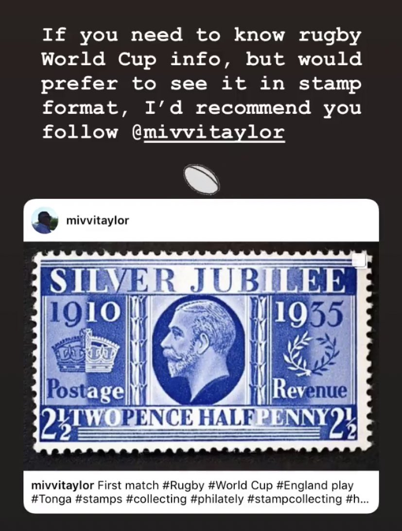 If you're on Instagram and need #RWC19 updates in philatelic form, here's one to follow #philately <br>http://pic.twitter.com/8by25kU3OT