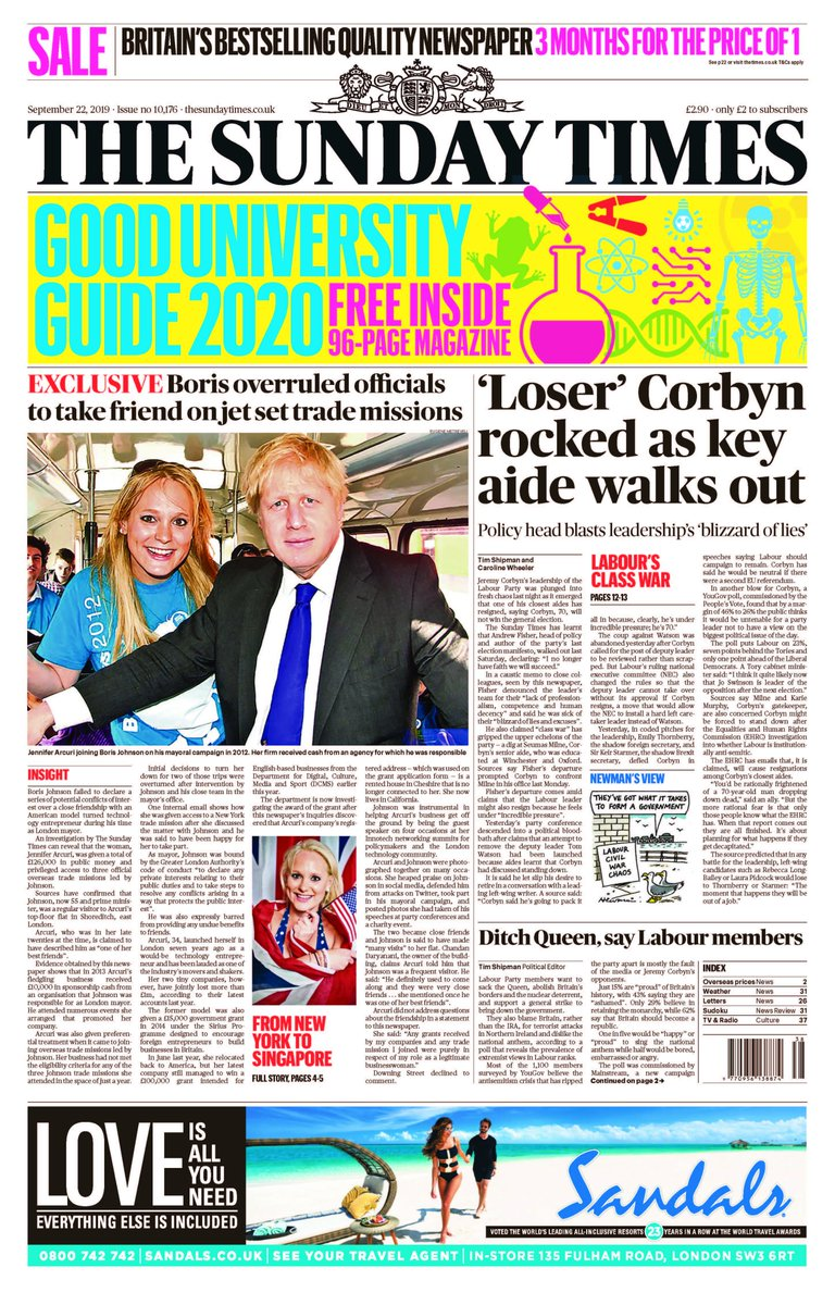 Jeremy Corbyns senior aide Andrew Fisher, who wrote the partys last manifesto, has lost faith in the leadership and quit. Read all about Labours class war in The Sunday Times tomorrow.