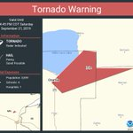 Image for the Tweet beginning: Tornado Warning continues for Onamia