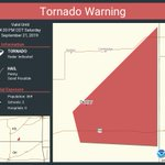 Image for the Tweet beginning: Tornado Warning continues for Dexter