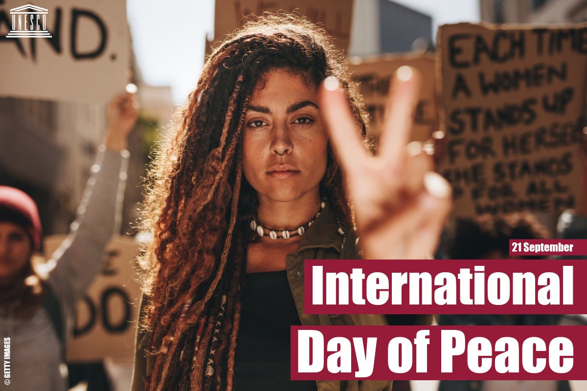 Today, and every day, lets stand up for Peace Equality Justice And healthy environment 21 September is International #PeaceDay! ☮️on.unesco.org/2Nu8Qrl