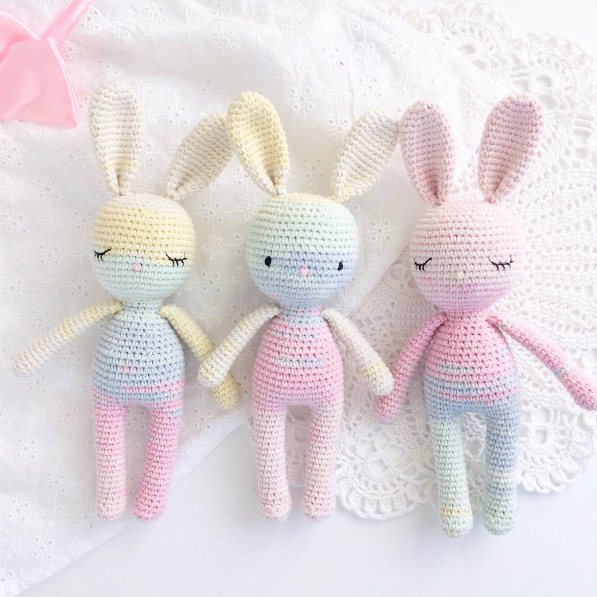 Amazon.com: Amigurumi crochet pattern charlie & angel bunny rabbit ... | 1200x1200