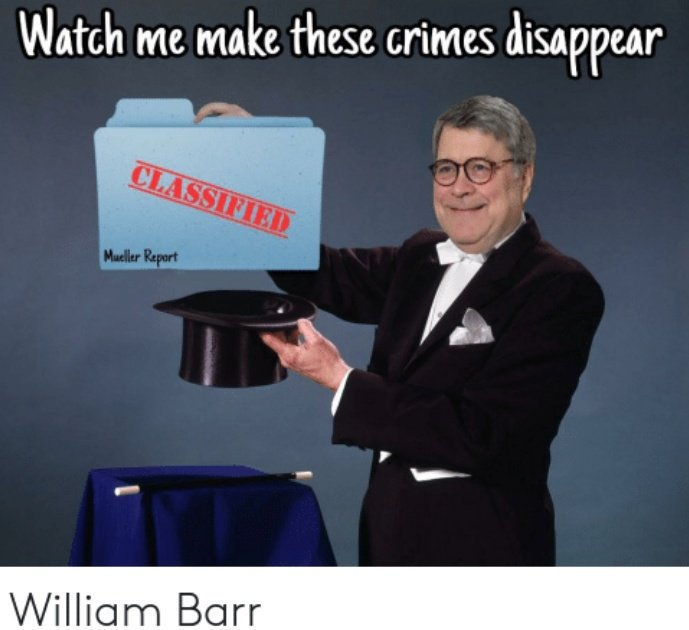 William Barr auditioned for the job & got it. He dissembled to the Senate a № of times in his testimony. Thats an impeachable offense. If hes in Trump stays in WH Look at the wave of egregious wave of lawlessness since he came along. WE voted you IN & can vote you OUT. RT 💫