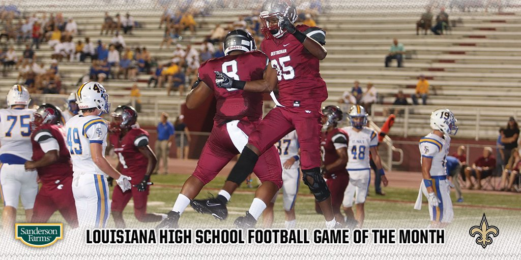 Coverage from the Louisiana High School Game of the Month: St. Pauls vs. Destrehan! 📷: neworlns.co/stpaulsdestreh… 🗞️: neworlns.co/stpaulsdestreh… Thanks for voting! #Saints | @SandersonCorp