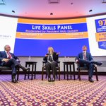 Wondering how current HPU students, HPU young alumni, parent entrepreneurs & business leaders use the same life skills HPU teaches daily? Dr. Qubein moderated a panel for HPU families on just that! Life Skills leaders shared tips how to thrive in the global marketplace! 🤝#HPU365