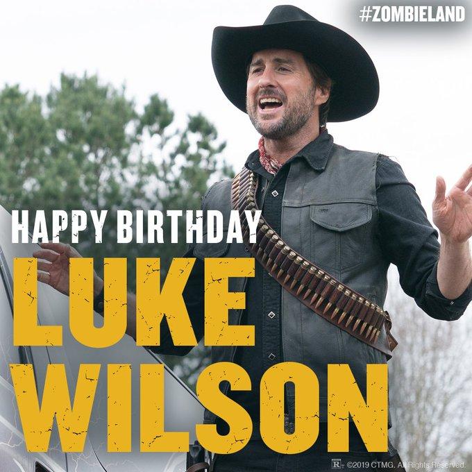 SonyPictures: Happy birthday to Zombieland s Luke Wilson!