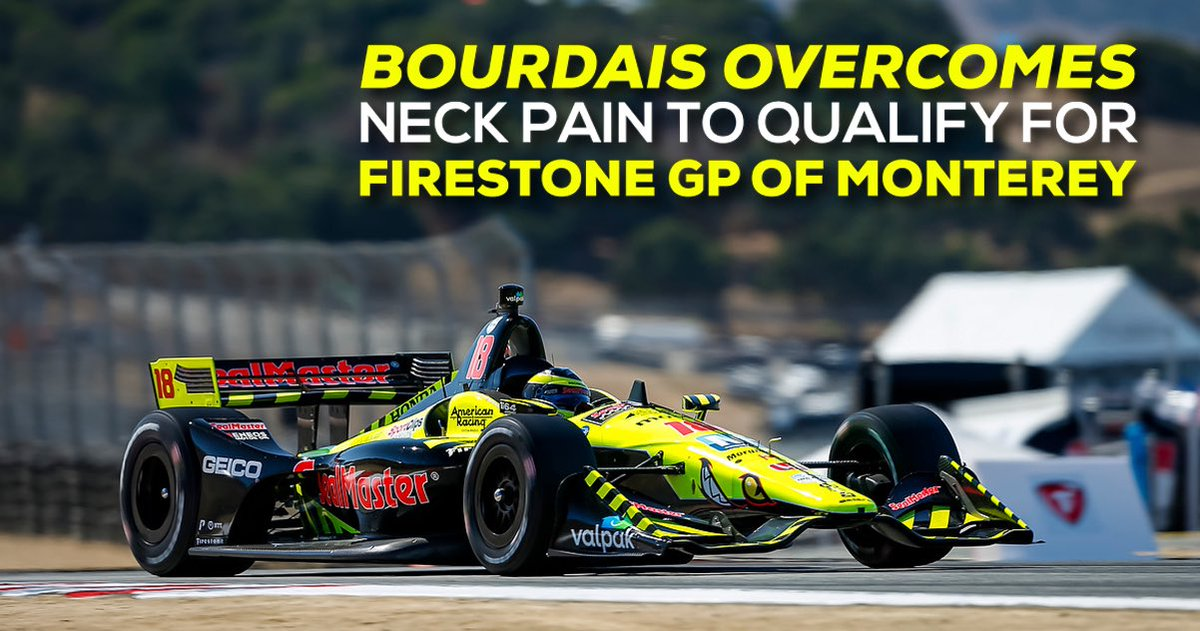 . @BourdaisOnTrack overcame significant neck pain to qualify for tomorrow's #FirestoneGP at @WeatherTechRcwy. Don't miss a minute of tomorrow's season finale, coverage starts at 2:30PM ET on @indycaronnbc. #INDYCAR