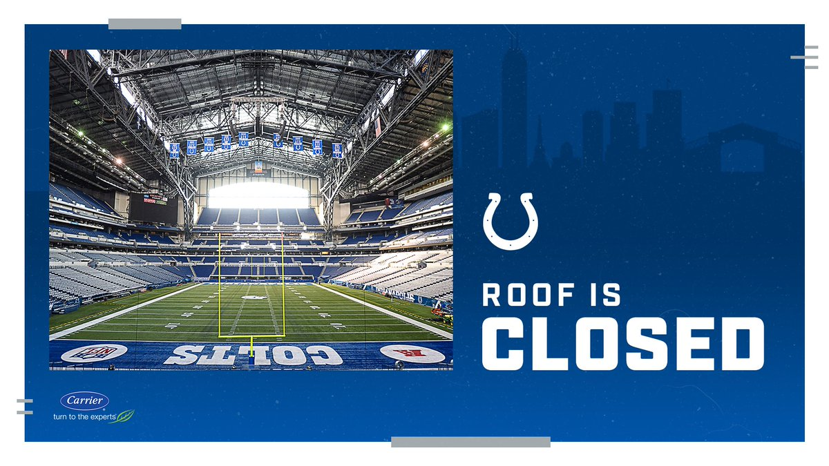 ROOF and WINDOW CLOSED for tomorrow's home opener against the Falcons. Kickoff at 1PM!! Gates open at 11AM. 🏈
