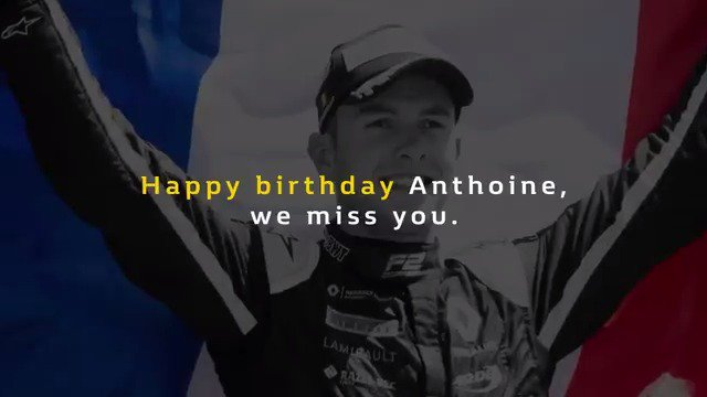 Today we race, for us, and for you. Happy birthday Anthoine, we miss you. Joyeux anniversaire Anthoine, tu nous manques. Always #RacingForAnthoine