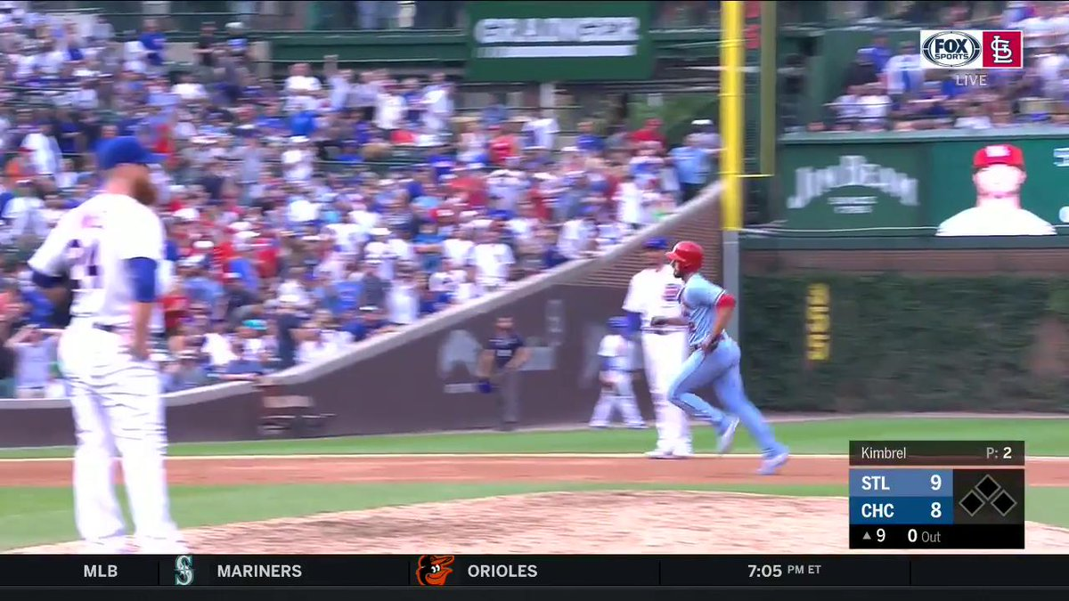 ICYMI - Paul DeJong shocks Chicago, hitting a back-to-back homer which gave the #STLCards the lead. #TimeToFly