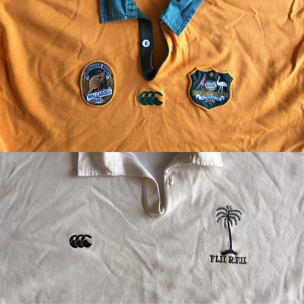 🏉#ラグビーワールドカップ2019 2日目#オーストリア🆚#フィジー熱戦でした。ちょうど #ワラビーズ とフィジーのジャージが出てきた。フィジーのジャージは #フィジアンマジック 旋風時代のもので昔、札幌で購入昔はどちらも #カンタベリー今日も横浜❤️#Fiji #Australia #rugbyworldcup2019