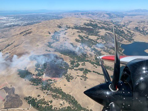 Aerial photo of Reservoir Fire