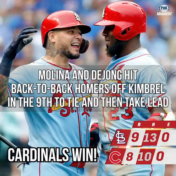 ICYMI - The #STLCards bury the Cubs in dramatic fashion. #TimeToFly Try the @imospizza Triple Play deal: imospizza.com/specials
